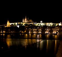 Charles Bridge with Castle & Cathedral by eegibson