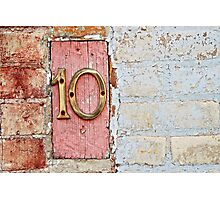 Number 10 Photographic Print