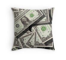 What's The Colour Of Money Throw Pillow