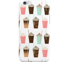 Iced Coffee - latte mocha coffee cafe summer cappuccino dessert sweet treat caramel pattern  iPhone Case/Skin