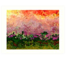 Meadow Morning abstract Art Print