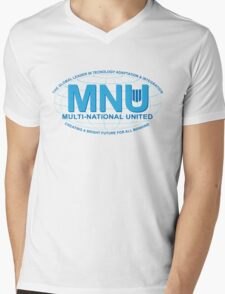 Multi National United Mens V-Neck T-Shirt