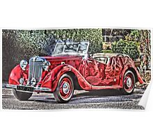 MG Classic car Poster