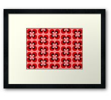 Retro abstract floral design Framed Print