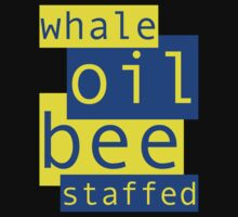 Whale Oil - Blue & Yellow by Ron Marton