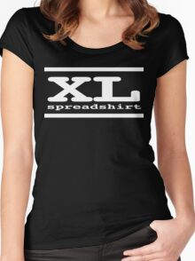 XL Spreadshirt - White Lettering Women's Fitted Scoop T-Shirt