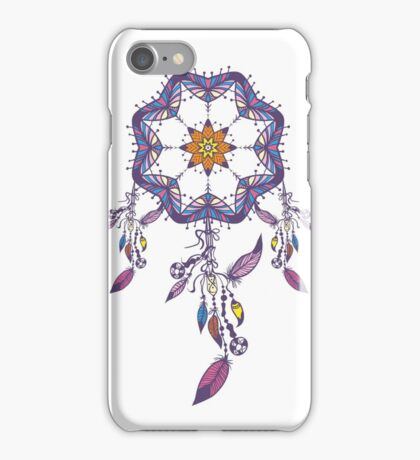 colorful native american dream catcher traditional indian symbol iPhone Case/Skin