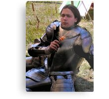 A privileged wit-cracking Knight Metal Print