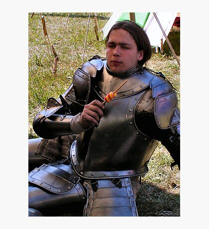 A privileged wit-cracking Knight Photographic Print