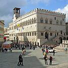 The Piazza Quattro Novembre, Centro Storico, Perugia, Italy by Philip Mitchell