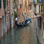 Gondola in Venice by gfairbairn