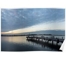 Morning Jetty - A Luminous Daybreak On Harbourfront Poster