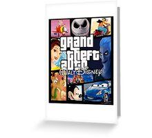 Grand Theft Auto Disney  Greeting Card