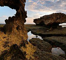 Porthole on Erosion Coast by Robert Mullner