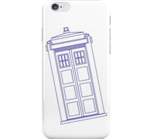 Blue box outline iPhone Case/Skin