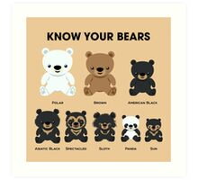 Know Your Bears Art Print