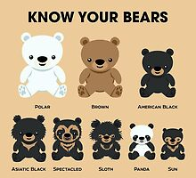 Know Your Bears by PepomintNarwhal