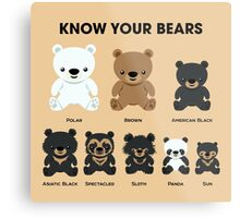 Know Your Bears Metal Print