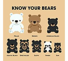 Know Your Bears Photographic Print