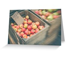 Market Day Apples Greeting Card