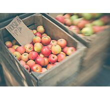 Market Day Apples Photographic Print
