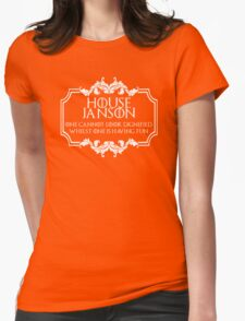 House Janson (white text) Womens Fitted T-Shirt