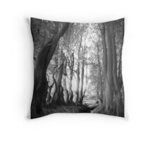 Escaping the bogs and the fields Throw Pillow