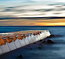 Concrete Pier at Dusk by Mark Boyle