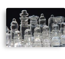 Chess King and Queen Canvas Print