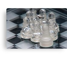 Chess Following Canvas Print