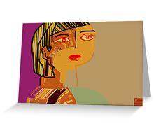 Girl at dusk Greeting Card