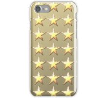 Stars retro light gold background iPhone Case/Skin