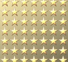 Stars retro light gold background by lantica