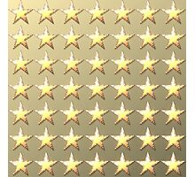 Stars retro light gold background Photographic Print