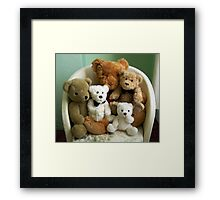 A Family of Teddy Bears Framed Print