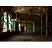 Teal Factory Photographic Print