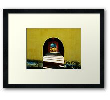 A touch of time Framed Print