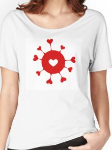 Happy Valentine's day hearts Women's Relaxed Fit T-Shirt