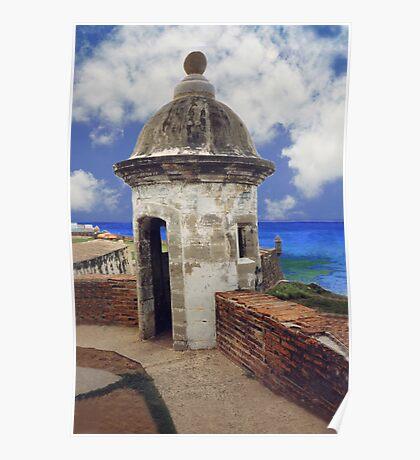 """Puerto Rico,"""" El Moro"""" Atlantic view Poster"""
