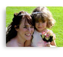 Bride & Bridesmaid Canvas Print