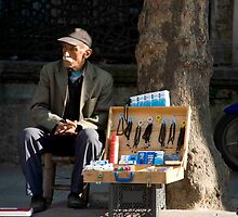 Milk Crate Salesman by phil decocco
