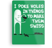 Swiss Happens! Metal Print