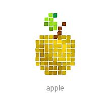 Vector pixel fruit  Photographic Print