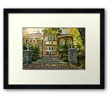 The Autumn Gate Framed Print