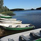 White boats and blue lake called Paunküla by loiteke