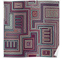 tribal abstract stripped geometric background Poster