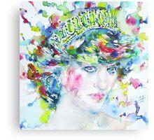 DIANA - Princess of WALES - watercolor portrait Canvas Print