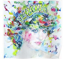DIANA - Princess of WALES - watercolor portrait Poster