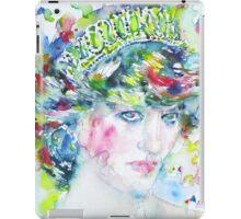 DIANA - Princess of WALES - watercolor portrait iPad Case/Skin