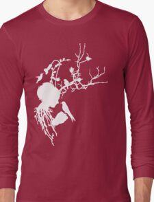 And then I was one with nature...white ink Long Sleeve T-Shirt
